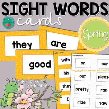 Spring Sight Words