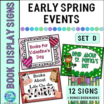 Book Display Signs for the Library or Classroom: Set D Ear