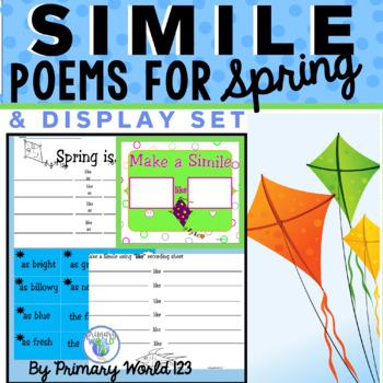 Spring Simile Poem Writing & Bulletin Board Set to Display