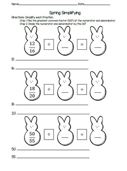 Spring Simplifying Fractions
