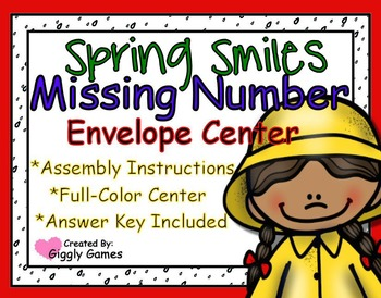 Spring Smiles Missing Number Envelope Center