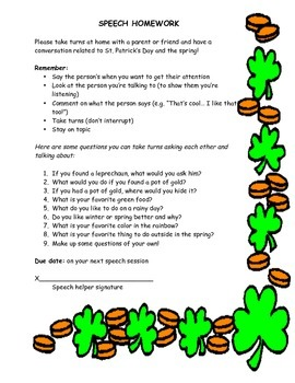 St. Patrick's Day Social Questions