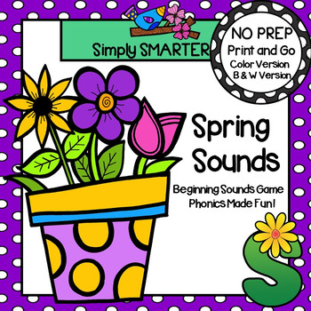 Spring Sounds:  NO PREP Beginning Sounds Game