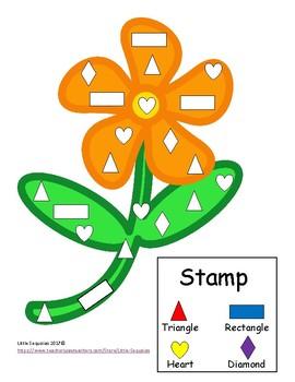Spring Stamp Shape Activity