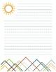Spring Stationary with Line Variety (Bird, Tree, Sun)