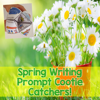 Spring Story Starter Cootie Catchers for Writing Centers a