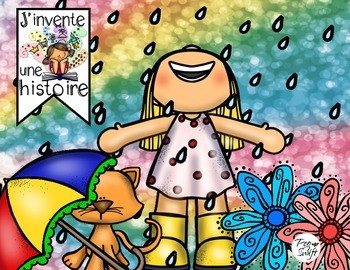 Spring Story Springboards ~ French ~ J'invente une histoire