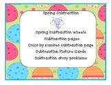 Spring Subtraction Activities