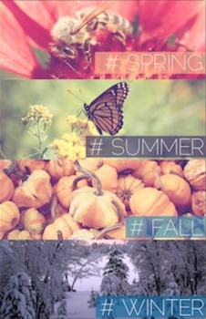Spring, Summer, Fall, Winter Poster {High Quality Printabl