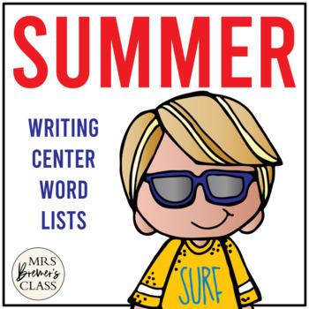 Spring & Summer Writing Center Lists