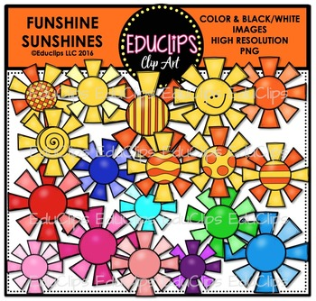 Funshine Sunshines Clip Art Bundle