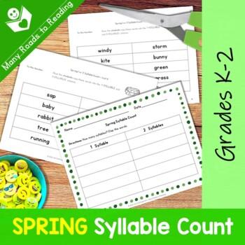 Spring Syllable Count: Grades 1-2