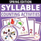 Syllable Counting Activities - Spring: Syllable Action Spi