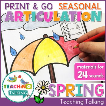 Spring Theme Articulation Print & Go