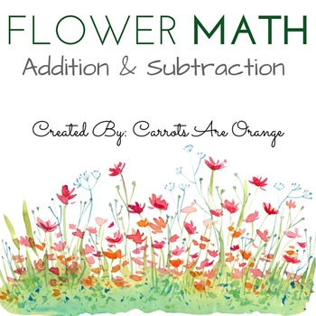 Spring Theme Flower Math Activity Set