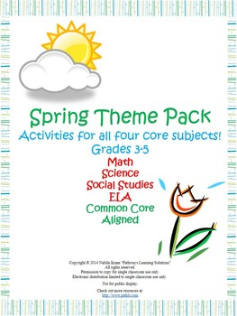 Spring Theme Pack {Common Core Aligned}