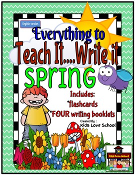 Spring Theme Writing JUMBO Package--ENGLISH Learners/ESL