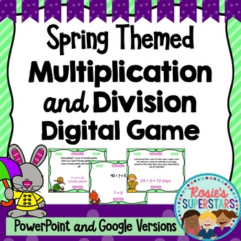 Spring Themed Basic Multiplication and Division PowerPoint Game