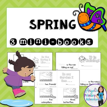 Spring Themed Emergent Readers:  Set of 3 mini-books