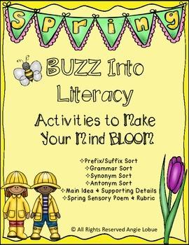 Spring-Themed Literacy Unit: {Reading, Vocabulary, Grammar