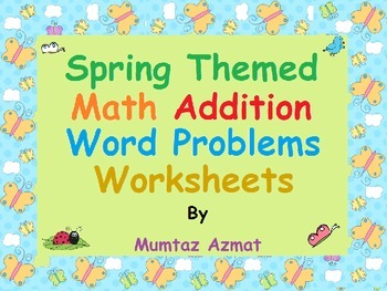 Spring Themed First Grade Math Word Problems with pictures