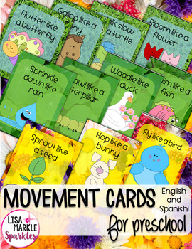 Spring Themed Movement Cards for Preschool