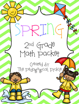 Spring Themed Second Grade Math Packet
