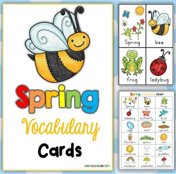 Spring Themed Vocabulary Cards with Record Sheets