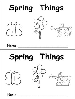 Spring Things Emergent Reader- Kindergarten- April and Col