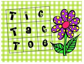 Spring Tic Tac Toe set