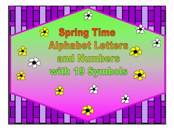 Spring Time Alphabet Letters and Numbers with 19 Symbols