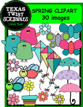 Spring Time Clip Art with 30 pieces