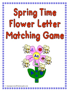 Spring Time Flower Letter Matching Game