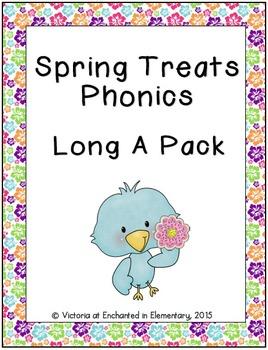 Spring Treats Phonics: Long A Pack
