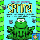 Spring Math and Literacy Unit for Pre-K and K - Teach Easy