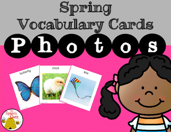 Spring Vocabulary Cards: Photo