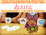 Spring Vocabulary Cards and Games