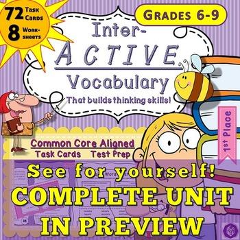 Spring Vocabulary Test Prep Context Clues and Reading Prac