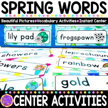 Spring Vocabulary Words (St. Patrick's Day, Easter, Earth