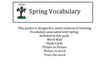 Spring Vocabulary/Autism/Verbal ABA/ABLLS/Language Builder/ESOL