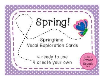 Spring! {Vocal Exploration Cards FREEBIE}