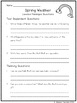 Spring Weather: CCSS Aligned Leveled Reading Passages and