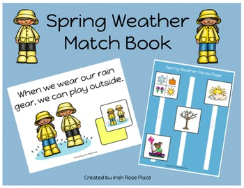 Spring Weather Match Book (Adapted Book)