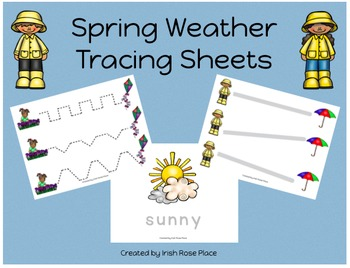 Spring Weather Tracing Sheets