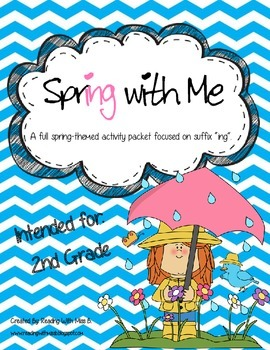 """Spring With Me - A Suffix """"ing"""" Activity Set"""