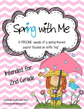 """Spring With Me - A suffix """"ing"""" FREEBIE Activity SAMPLE Set"""