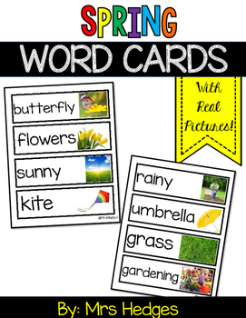 Spring Word Cards