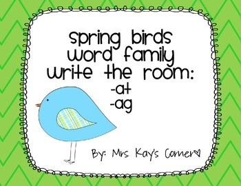 Spring Word Family Write the Room