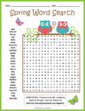 Spring Word Search Puzzle