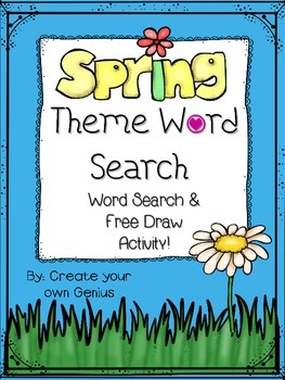 Spring Word Search Activities